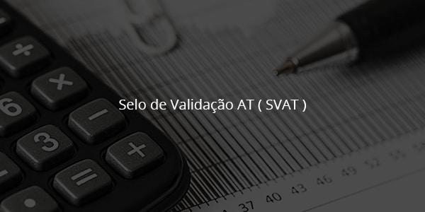 Selo de Validação AT ( SVAT ) 1