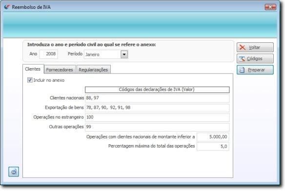 Como pedir reembolso de IVA no software PHC 11