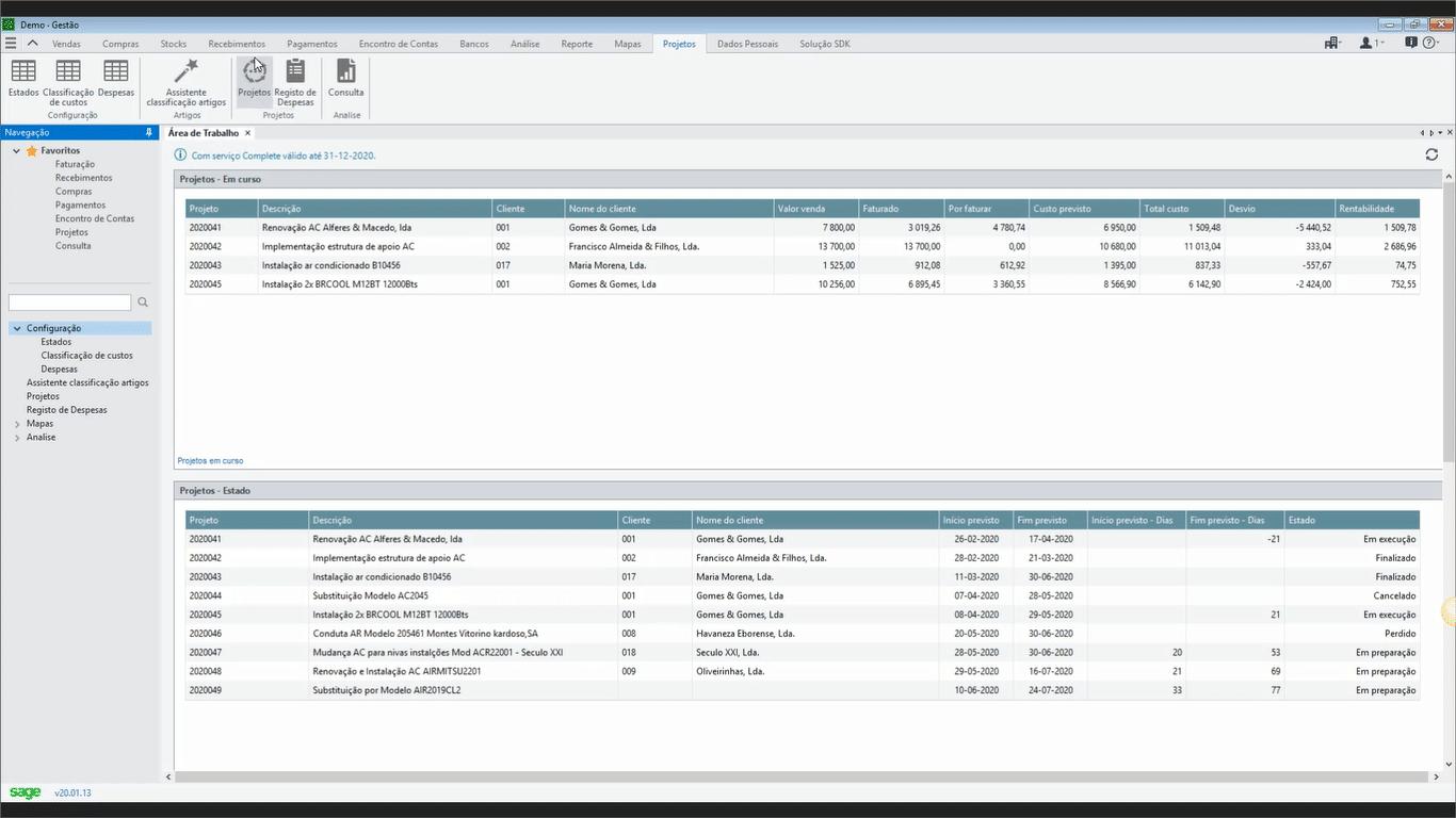 Add-On Sage - Gestão Financeira de Projeto 3
