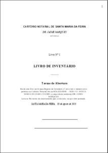 Livro de Inventário dos Livros e dos Maços do Cartório Notarial 11